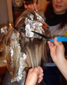 Курсы парикмахеров в Рогачеве: мелирование