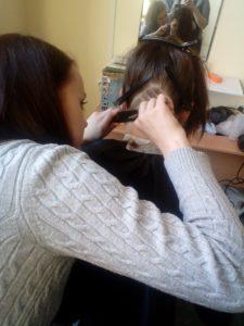 Художественный выстриг на волосах