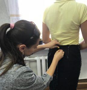 Примерка юбки