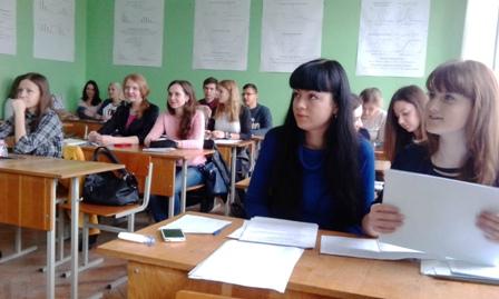 На занятиях