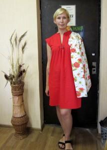 Платье, сшитое ученицей