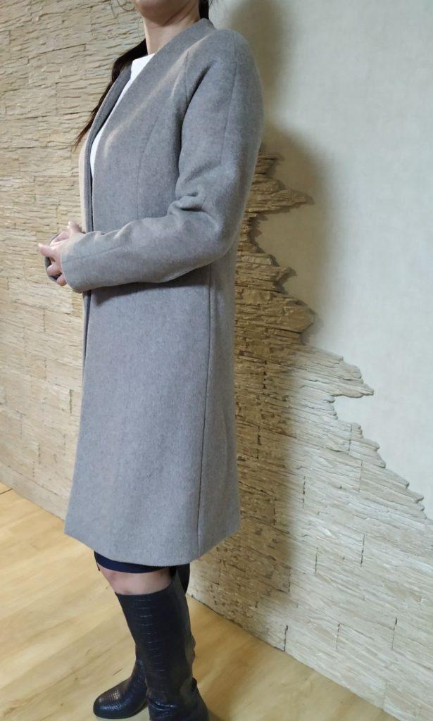 Пальто, сшитое ученицей курса