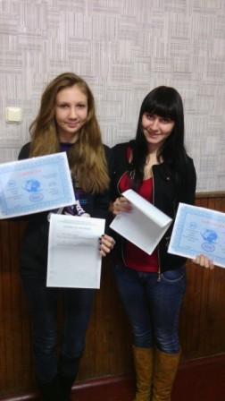 Курсы продавцов в Солигорске: вручение документов слушателям