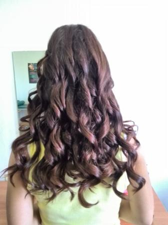 Курсы парикмахеров в Мозыре: накрученные волосы на щипцы