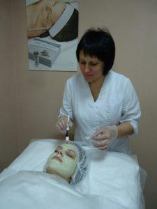 Практическое занятие по нанесению масок