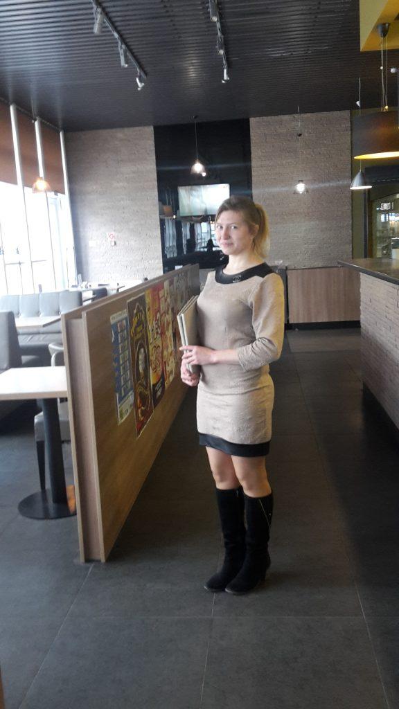 Практика в кафе