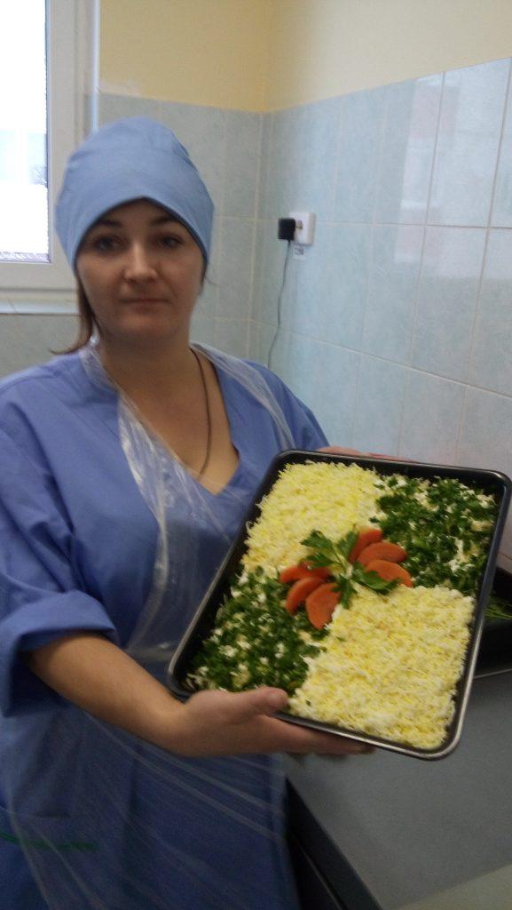 Салат изготовлен выпускницей курса