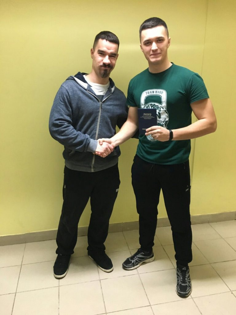 Выпускник курса с преподавателем Егором