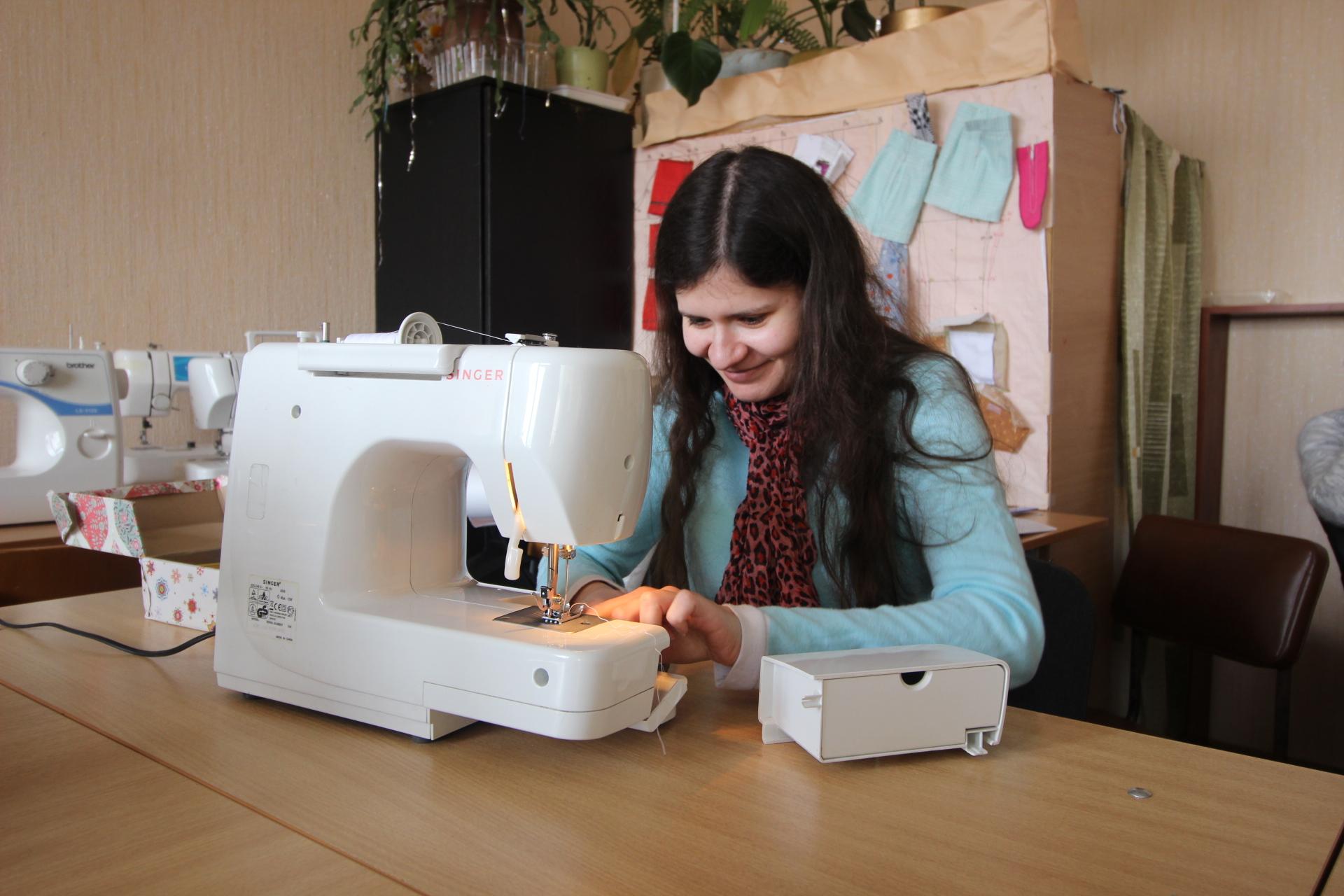 Слушательница курсов кройки и шитья