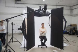 Практическое занятие в фотостудии