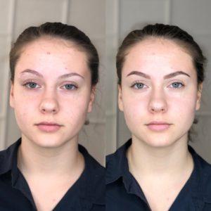 Биотатуаж бровей до и после